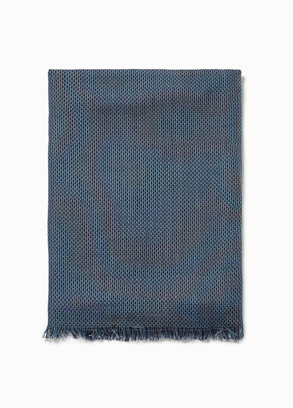 Patterned cotton and viscose scarf | OVS