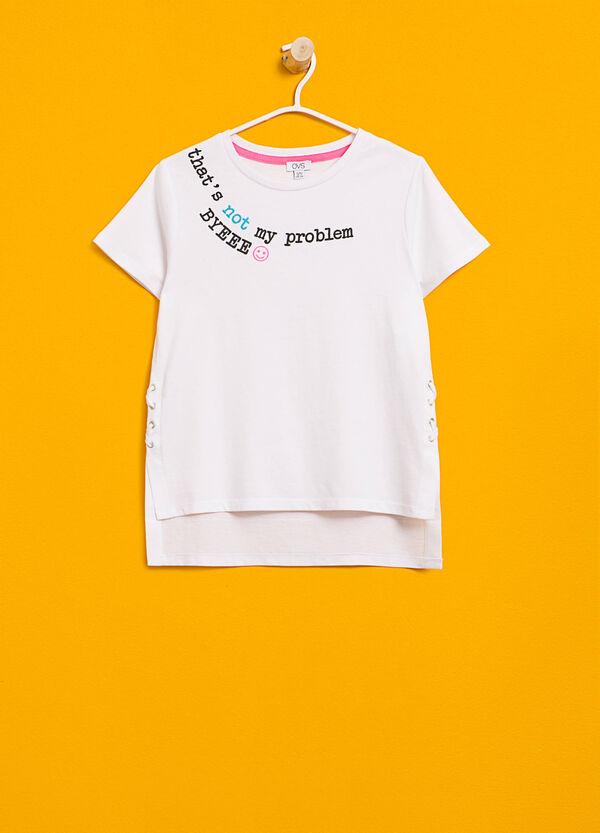 T-shirt in cotone con stampa e laccetti | OVS