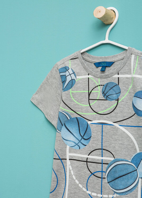 Mélange T-shirt with maxi print   OVS