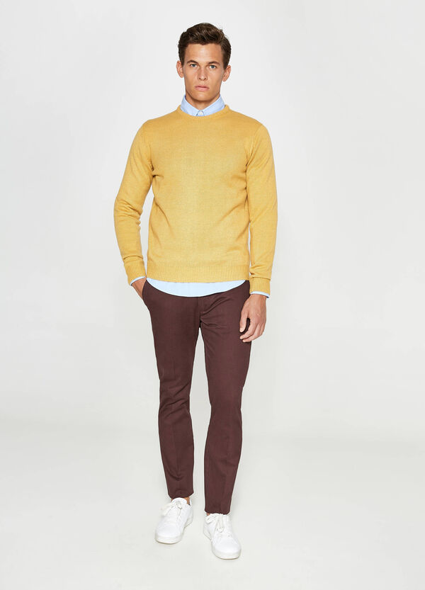 Solid colour 100% cotton trousers | OVS