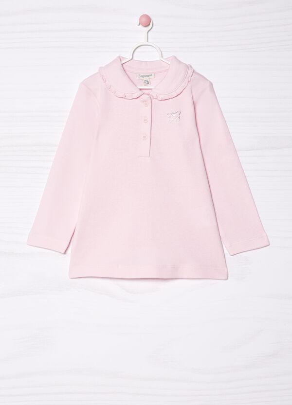 Diamanté polo shirt in 100% cotton   OVS