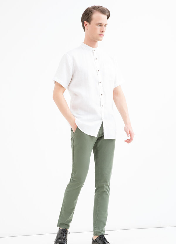 Camicia puro lino tinta unita   OVS