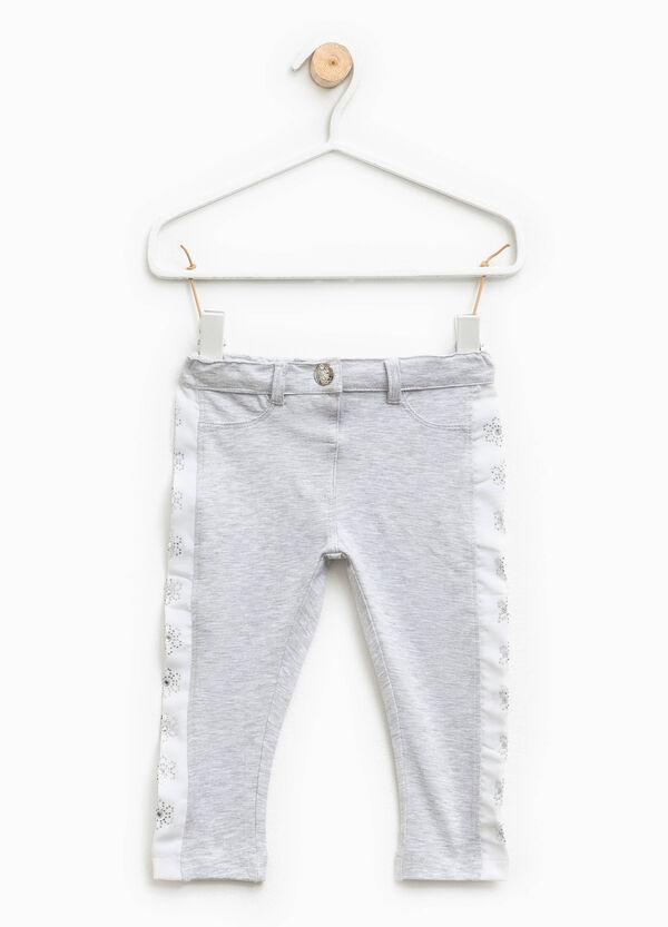 Pantaloni con strass a fiore   OVS