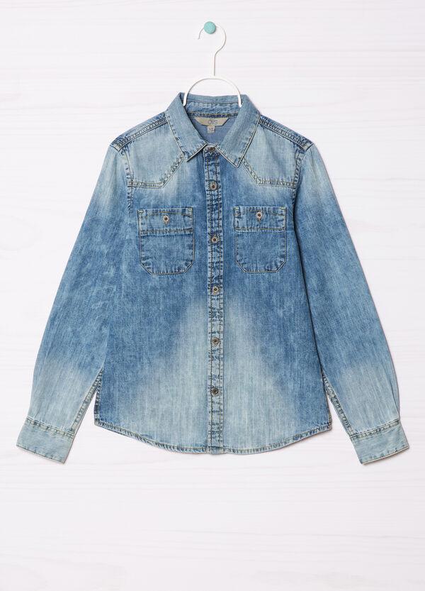 Camicia di jeans effetto delavé   OVS