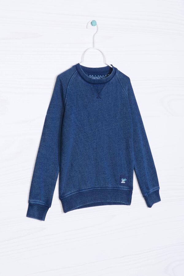 Solid colour cotton blend hoodie | OVS