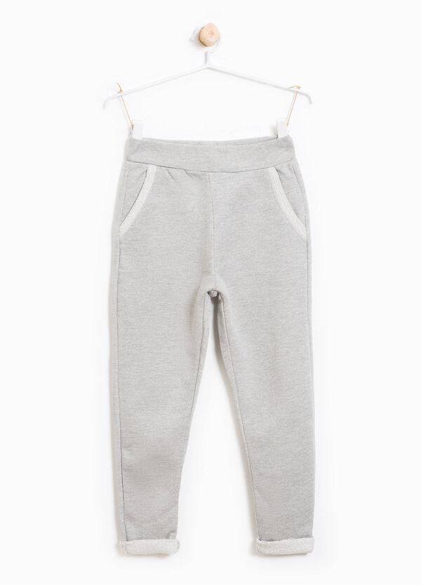 Pantaloni tuta in cotone con lurex e tasche | OVS