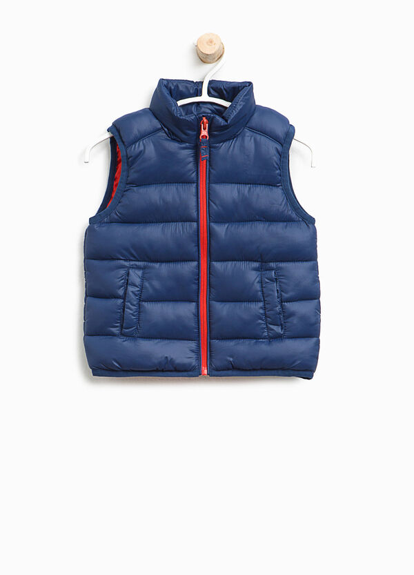 Padded waistcoat with high collar and zip   OVS