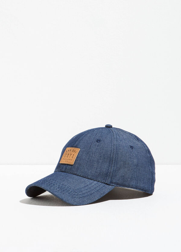 Denim baseball cap with patches | OVS