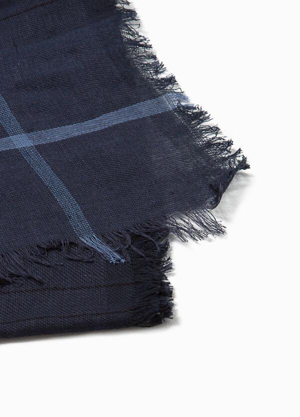 Checked cotton scarf | OVS