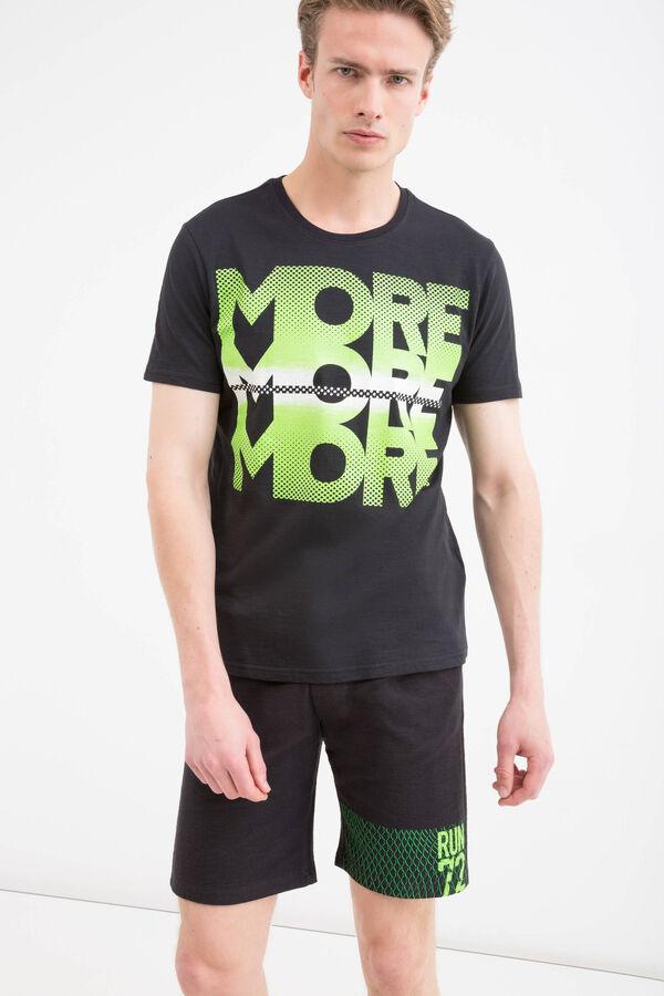 100% cotton printed gym T-shirt | OVS