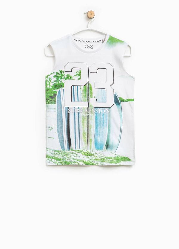 Cotton printed vest top | OVS