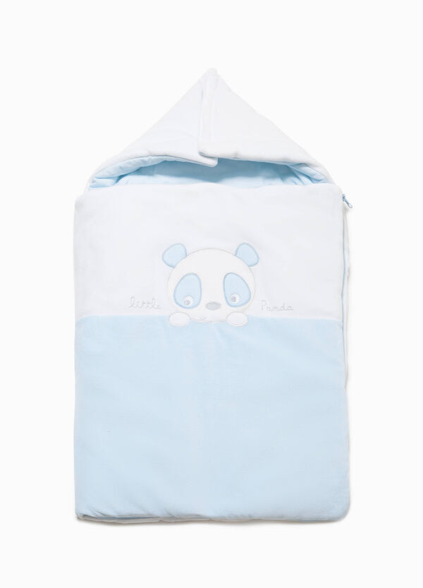 Baby sleeping bag with panda patch | OVS