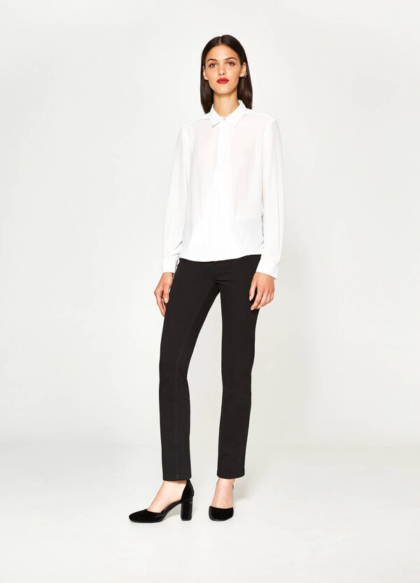 Blouse with cross-over front   OVS