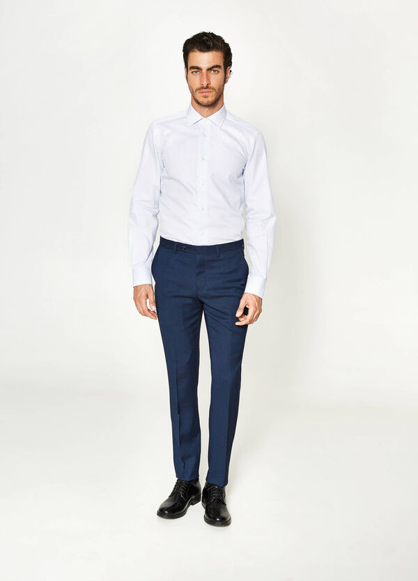 Pantaloni eleganti slim fit in viscosa | OVS