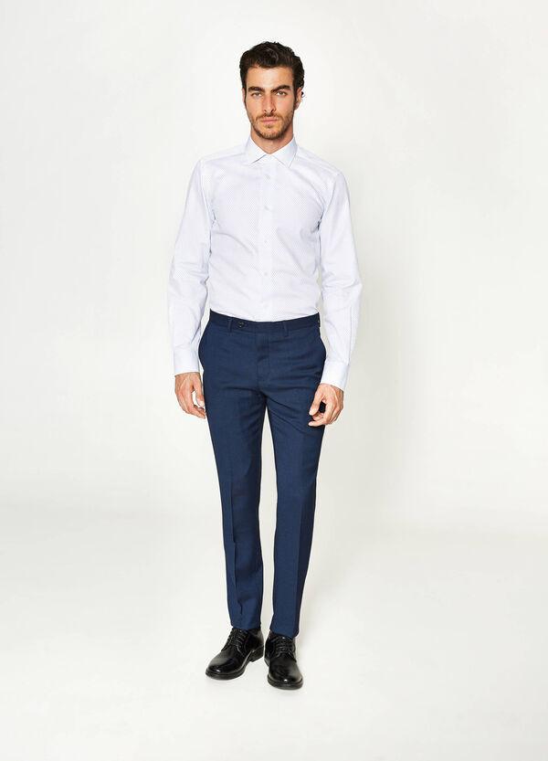 Slim-fit elegant viscose trousers | OVS