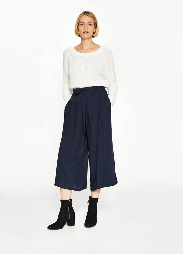 Gaucho trousers in 100% viscose | OVS