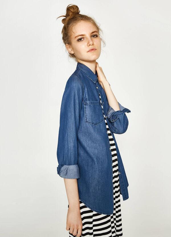 Denim shirt with pockets   OVS