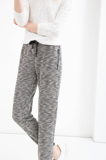 Cotton blend joggers with drawstring