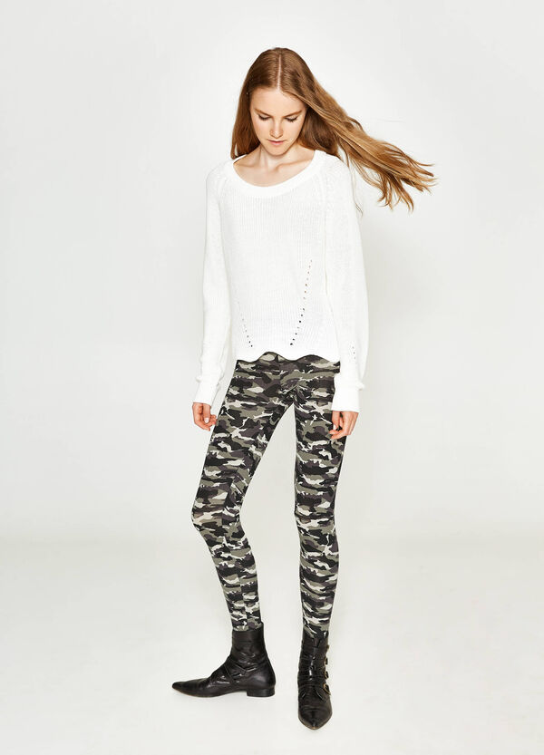 Stretch camouflage leggings | OVS