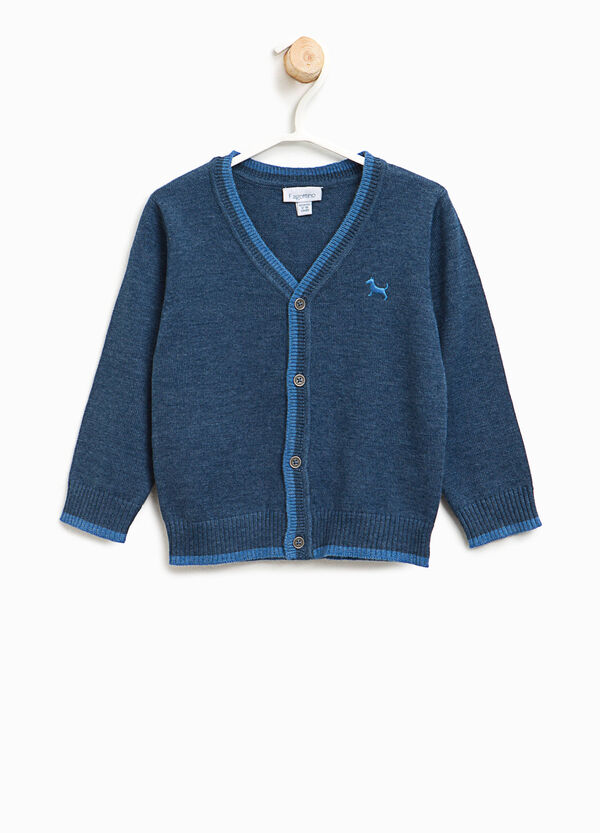 Embroidered cotton cardigan | OVS