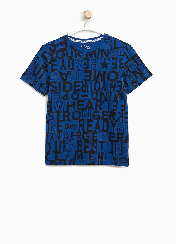 T-shirt cotone fantasia lettering | OVS