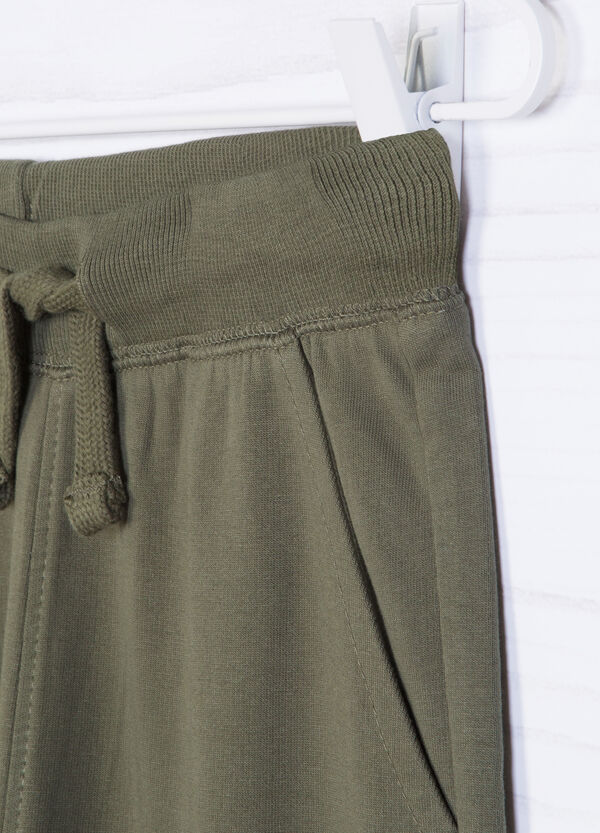 Pantaloni puro cotone tinta unita | OVS