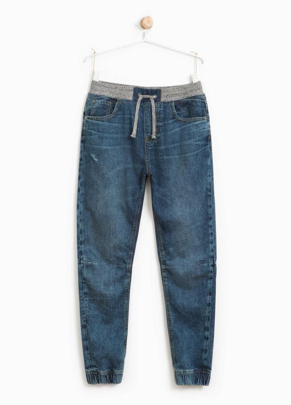 Jeans effetto used vita elasticata | OVS