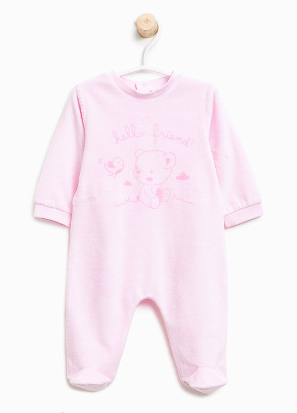 Better Cotton sleepsuit with teddy bear print | OVS