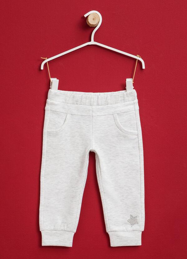 Pantaloni tuta in cotone stretch strass | OVS