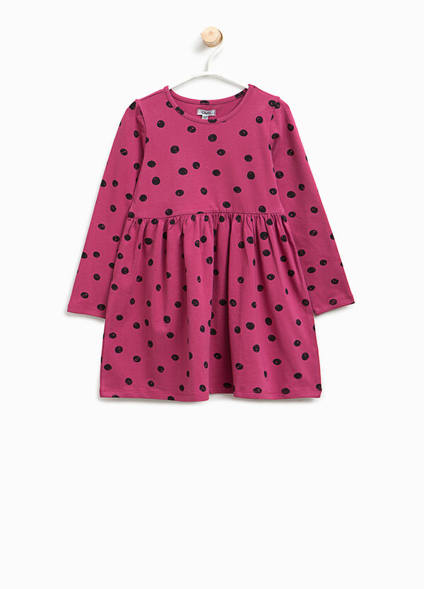 Polka dot dress in stretch cotton | OVS