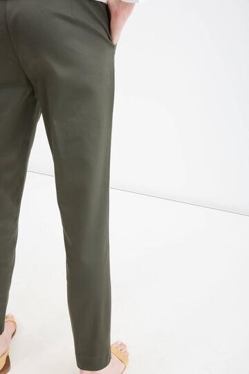 Pantaloni satin di cotone stretch