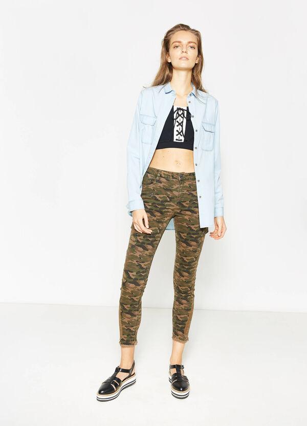 Pantaloni cargo in cotone camouflage | OVS