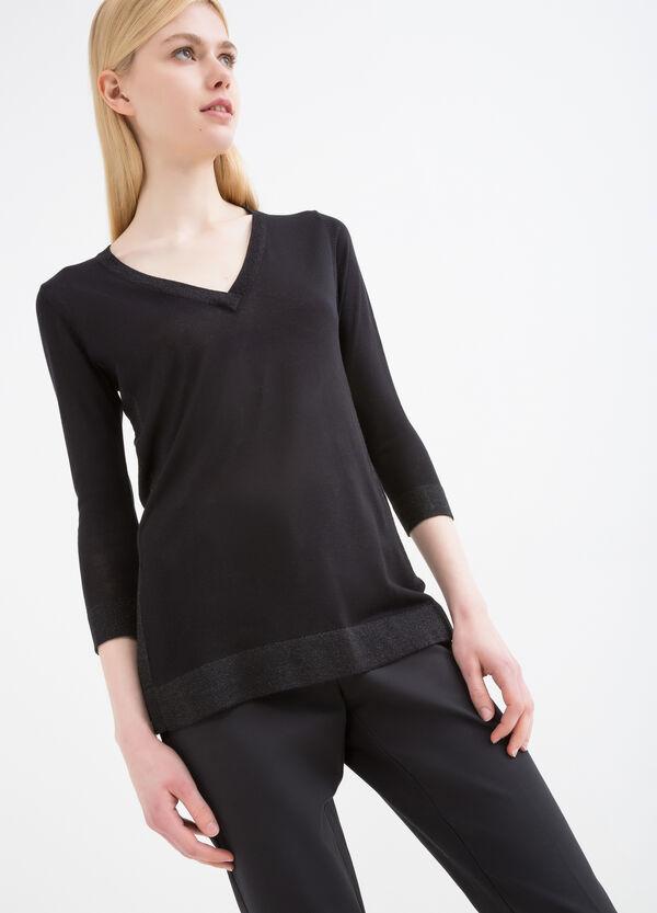 100% viscose pullover with lurex | OVS