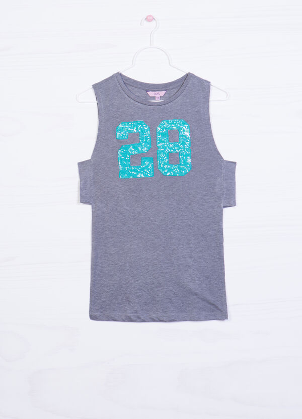 Printed 100% cotton top | OVS