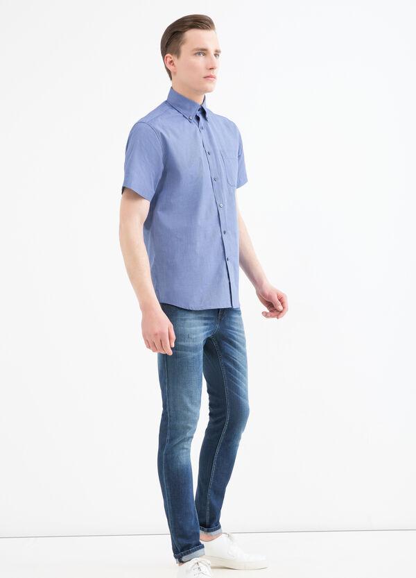 Camicia regular fit a quadretti   OVS