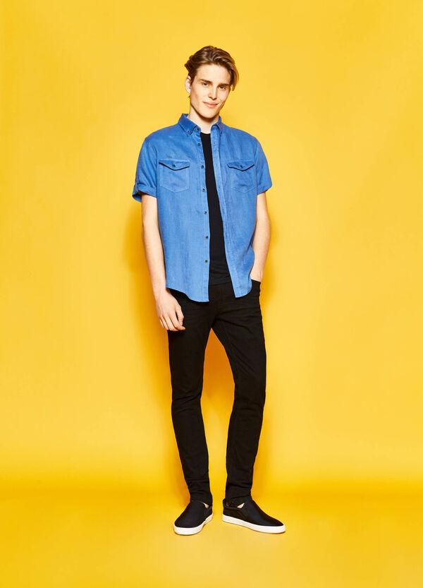 Camicia casual regular fit puro lino | OVS
