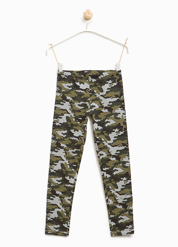Studded camouflage leggings | OVS