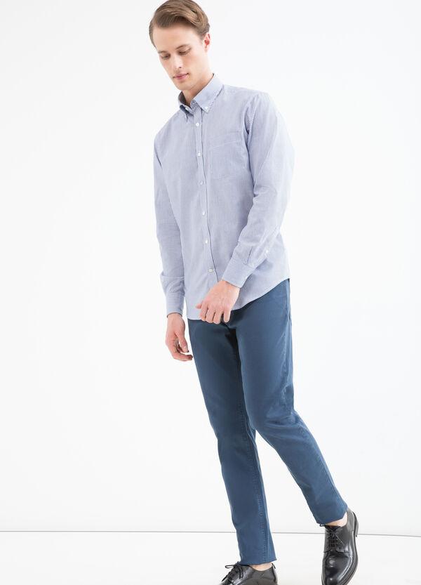 Camicia regular fit misto cotone | OVS