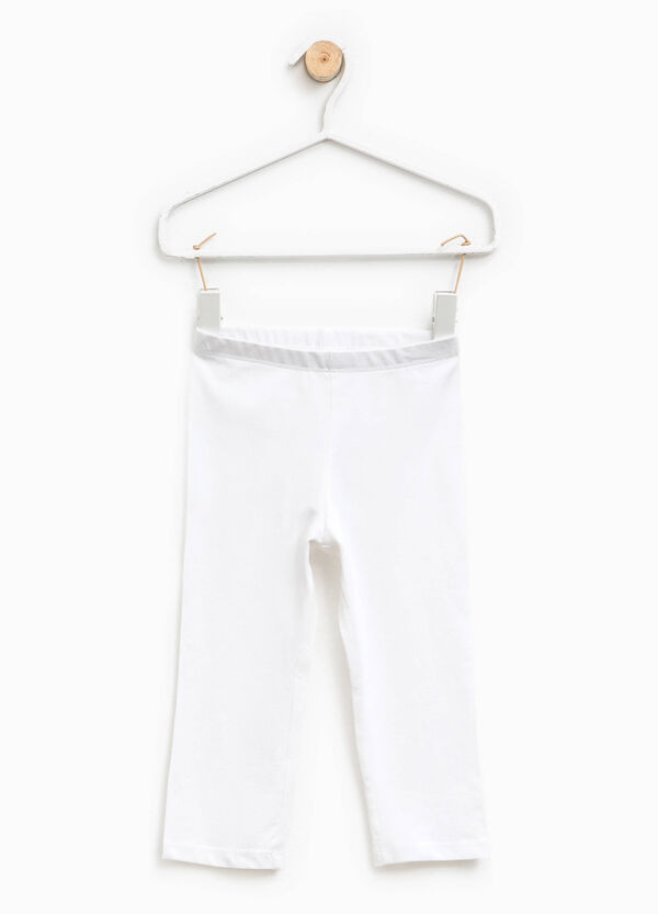 Cotton leggings with elasticated waistband | OVS