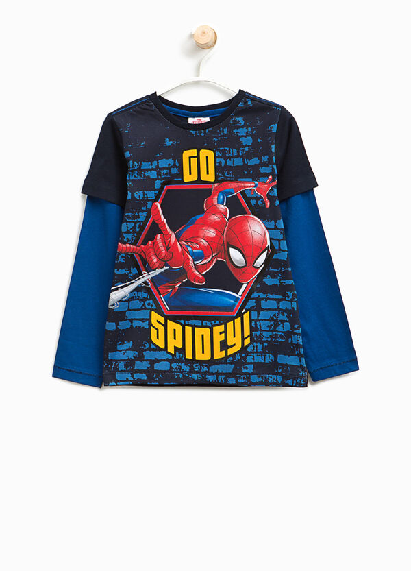 T-shirt finto doppio stampa Spiderman | OVS