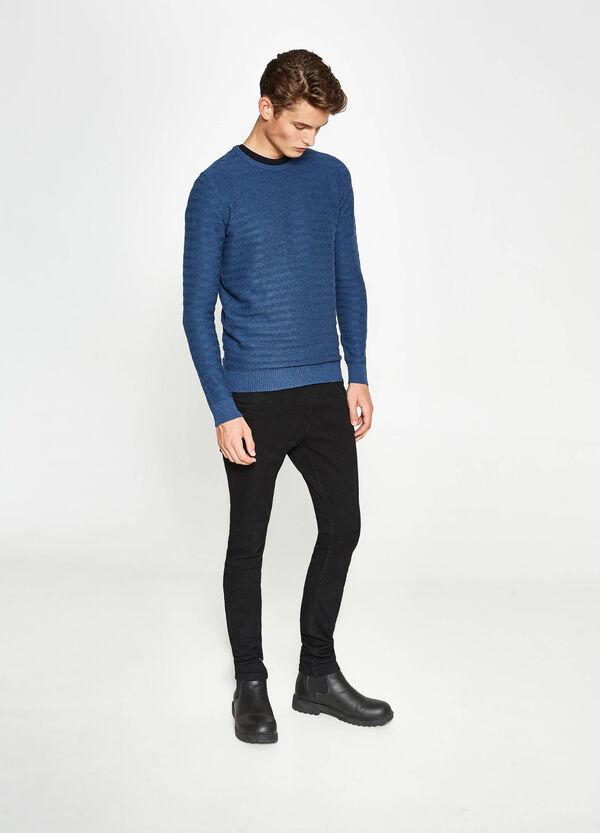 Pullover stretch lavorato tricot   OVS