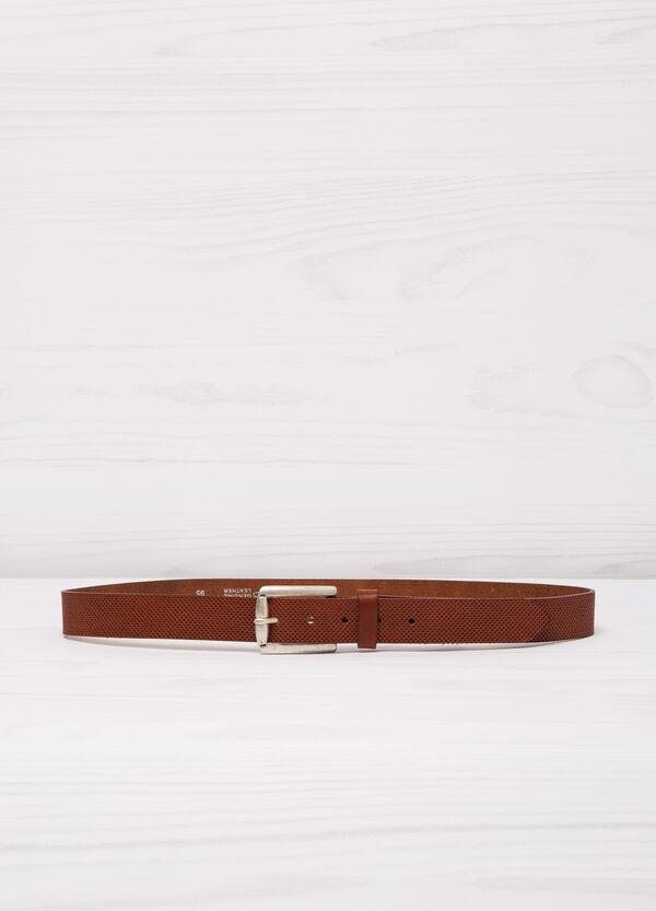 Cintura traforata in vera pelle | OVS