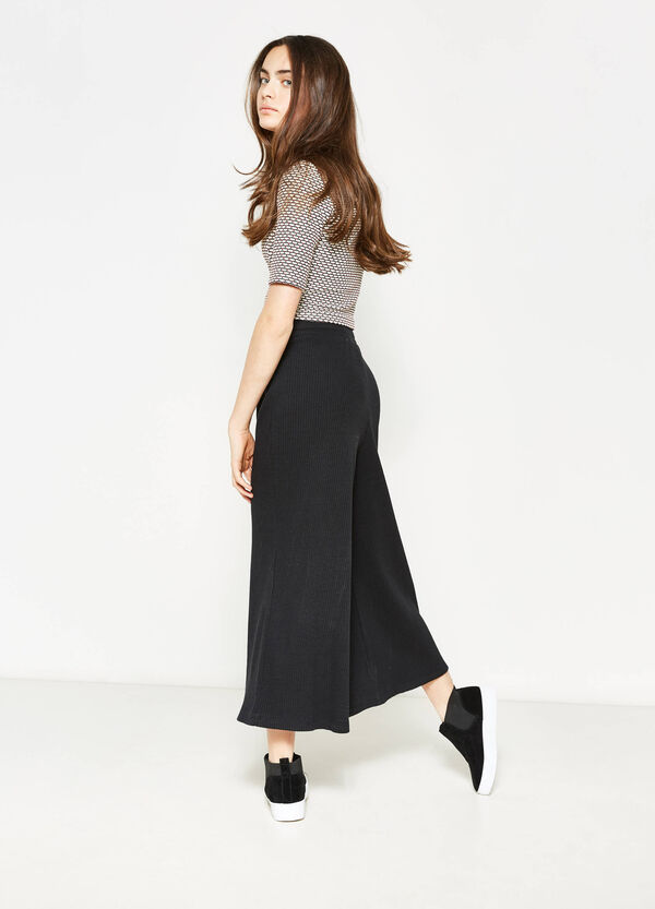 Teen solid colour palazzo trousers | OVS