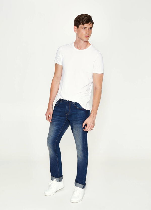 Straight-fit jeans with turn-ups | OVS