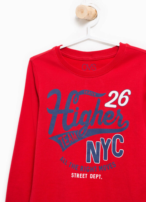 T-shirt con stampa lettering in cotone   OVS