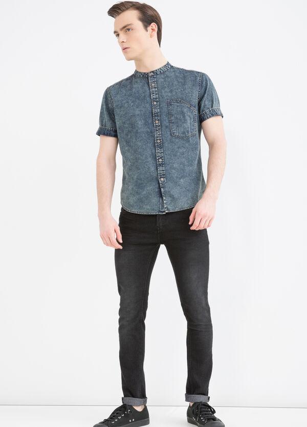 Camicia jeans slim fit collo coreana   OVS