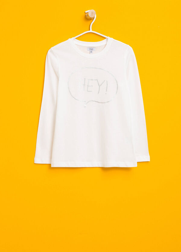 T-shirt in cotone stampa lucida | OVS