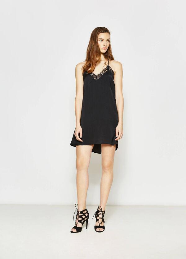 Sleeveless dress with lace   OVS