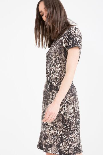 Stretch animal print dress