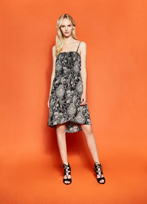 Dress with crossover skirt | OVS
